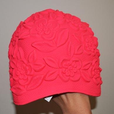 Dámská koupací čepice latexová s květinami od Jipast a.s. e9b54ff31e